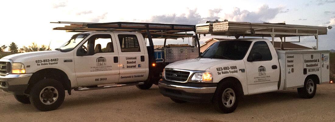 F&J's 24 Hour Garage Door Service - Garage Door Service Trucks